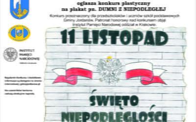 Gminny Konkurs Plastyczny na plakat pn. DUMNI Z NIEPODLEGŁEJ