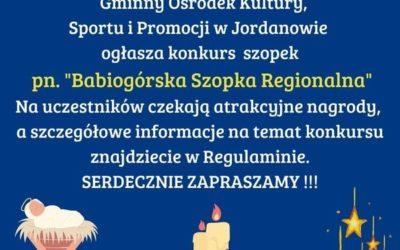 "Konkurs szopek pn.""Babiogórska Szopka Regionalna"""